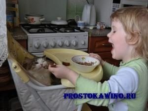 Как варить кашу кошке?
