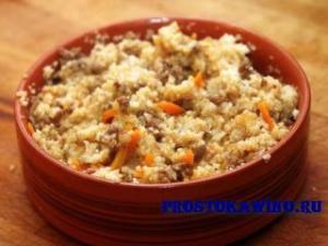 Рецепты ячневой каши. Ячневая каша с мясом