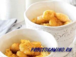 Каша пшенная с апельсином и карамелизованным бананом